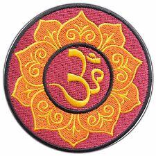 Aum Om Hindu Lotus Indian Infinity Hindi Yoga Peace Hippie Iron On Patches AU010