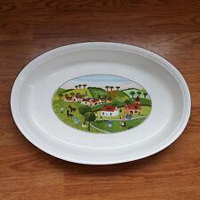 "Villeroy & Boch Naif Country Farm Oval Casserole Baker Baking Dish 15.75"""