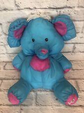 Fisher Price Vintage Wild Puffalump Blue Elephant Stuffed Plush