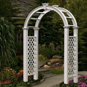 Classic Romantic Nantucket Legacy Arch Garden Wedding Bridal Party Decorations