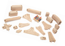 56 Pieces of Wooden Train Track Compatible with All Major Train Brands