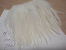 Ivory Off White Natural Rooster Saddle Strung Feathers    US Seller