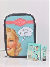 Benefit Brow Bar Makeup Bag Pouch + Benetint Porefessional Primer.025 oz Set