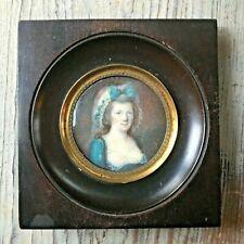 18th century Portrait Miniature of a woman, c. 1790