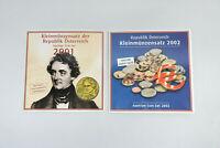 Österreich Kleinmünzensatz Schilling und Euro 2001 2002