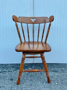Rare Vintage Maple Wood Tell City Swivel Chair Pattern #8019, #48 Andover Finish