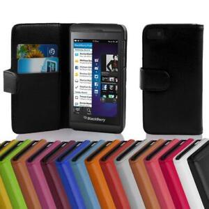 Custodia Cover per Blackberry Z10 Libri Case con slot per schede
