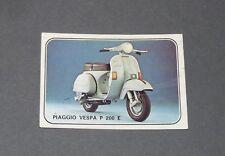 N°322 PIAGGIO VESPA P 200 E ITALIA ITALIE SCOOTER ALBUM PANINI MOTO SPORT 1979
