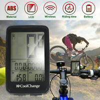 Rechargeable Wireless LCD Bike Computer Bicycle Speedometer Odometer Waterproof