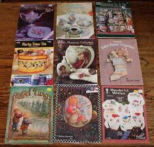Lot 9 Tole Painting Books Angel Twigs  Helan Barrick Heather Redick Jo Ann Karpf