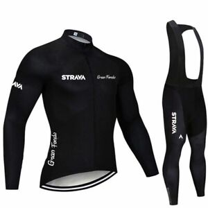 Cycling Jersey Set Short Sleeve Bibs Strava Pro Team Summer Clothing Breathable
