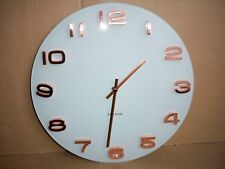 Karlsson Wall Clock Vintage Round White Copper Designed by BOX 32