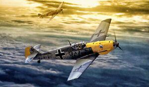 Messerschmitt B1 109E German WW2 Fighter Plane XXL Size Over 1 Meter Wide Poster