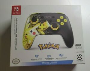 PowerA Enhanced Wireless Pikachu Pokemon Controller for Nintendo Switch