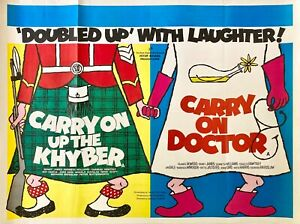 Carry On Up the Khyber & Carry On Doctor Double Bill Original Quad Poster 1968