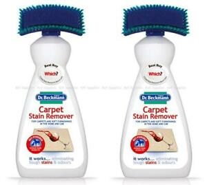 Dr Beckmann Carpet Stain Remover With Brush & Oxi Action 650ml (Pack of 2)