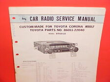 1969-1972 TOYOTA CORONA MK II PANASONIC AM-FM RADIO SERVICE SHOP MANUAL RT60-LU