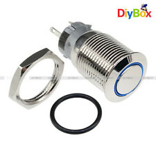 5PIN 12V 16mm DIY auto Push Power Button LED Angel Eye Auto-buttons Metal