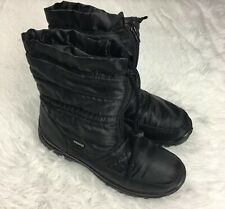 Spring Step Womens Lucerne Black Waterproof Alpi-Tex Snow Boots Size 40 US 9