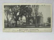Morgan School 1906 Clinton Conn Ct Vtg Old Postcard Undivided Back Early UDB