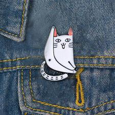 Jackets Collar Badge Jewelry Gi . Fashion Enamel Cartoon Cat Pins Brooch