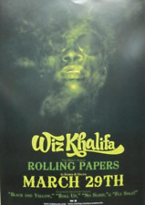 WIZ KHALIFA 2011 ROLLING PAPERS PROMOTIONAL POSTER Flawless New Old Stock