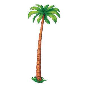 6 FEET! Jointed PALM TREE Beach Cardboard Cutout Hanging Luau Tropcial Birthday
