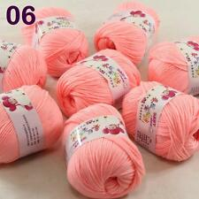 Sale lot 8 Skeins x50g Cashmere Silk Wool Children hand knitting Crochet Yarn 06