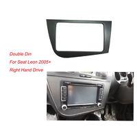 Radio Fascia for Seat Leon 2 Din Stereo Panel Dash Adaptor DVD Trim Kit Frame