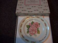 "vintage Fifteenth Avon Anniversary ""The Avon Roses"" plate hand crafted 24K gold"