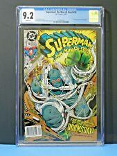 New Listing1992 Dc Superman Man Of Steel #18 1st Full Doomsday Cgc Graded 9.2 Rare Hot Key