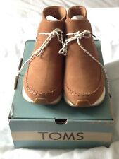 TOMS Suede Women's Rio Boots Brown Dark Amber Size 6.5/39 RRP £90 - NEW WITH BOX