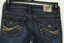 Chip & Pepper Junior's Jeans Flare Denim Flap Pockets Size 3