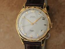 Doxa Swiss Made 35mm Manual Gold Plated Men's Luxury 1960s Dress Watch RX118
