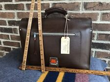 VINTAGE 1950's RUSSIAN BROWN LEATHER SADDLE BAG BRIEFCASE BAG MOOSE HANDLE R$898