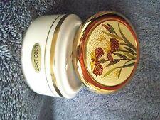 Cloisonne Trinket Box Lid 24K Gold Trim Flowers Butterflies Jar Japan