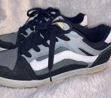 Vans Skate Shoes Mens Black Gray Yellow Sneakers US 10