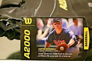 NWT Wilson A2000 First base Adult glove 12.25 RHT JUSTIN MORNEAU