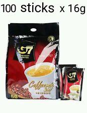 100 sticks x16g Vietnamese Trung Nguyen G7 Instant Coffee 3in1 Coffeemix sachet