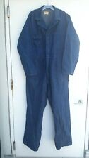 Vtg 40s 50s CASEY JONES Denim Coveralls Chore Work Workwear Selvedge Indigo Sz44