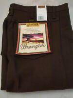 Wrangler Men's Wrancher Dress Jean, Brown 32 x 29