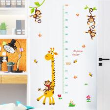 Giraffe Monkey Height Chart Wallpaper Wall Sticker DIY Kids Children Decor