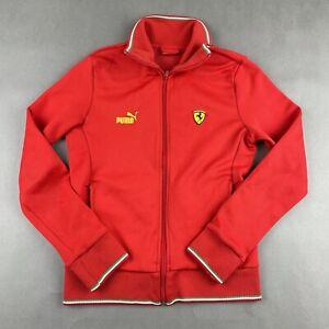 Puma Ferrari Full Zip Track Jacket Sweatshirt  Women's Size Medium