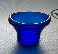 More details for vintage blue glass eye bath marked optrex safe guard sight