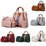 4PCS Set Women Leather Handbag Shoulder Tote Bag Lady Clutch Purse Card Wallets