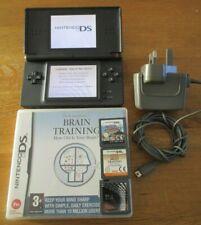 Nintendo DS Lite Black Console + Charger + 3 Games + R4 Excellent Condition