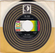 "The Who ""I'm Free"" & ""We're Not Gonna Take It"" 1969 Rocker  Decca 732519 VG++/NM"