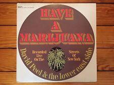 David Peel & The Lower East Side - Have A Marijuana 1968 Elektra EKS-74032 VG+