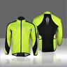 Men's Bike Long Sleeve Jacket Windproof Cycling  Fleece Thermal Wind Coat Jersey
