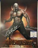 DAVE BAUTISTA SIGNED 16X20 POSTER  GUARDIANS OF THE GALAXY DRAX BECKETT BAS COA